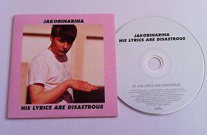 JAKOBINARINA-His-Lyrics-Are-Disastrous-PROMO-DJ-CD-SINGLE-2007-EMI-album