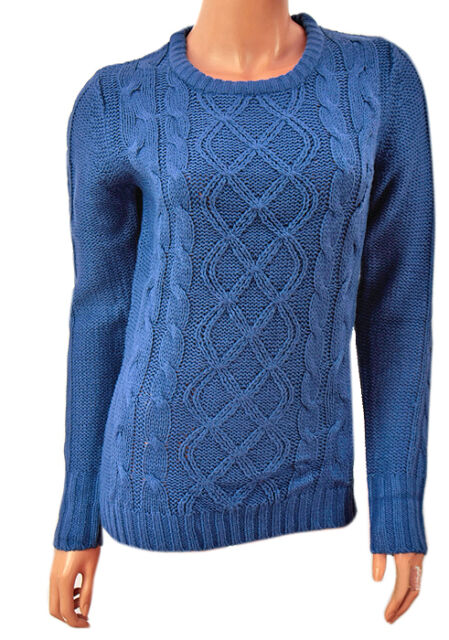 Ladies Long Sleeve Honor Millburn at EWM Crew Neck Cable Knit Jumpers