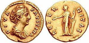 Diva-Faustina-Senior-Died-AD-140-1-AV-Aureus-19mm-7-11-g-6h-Rome-mint