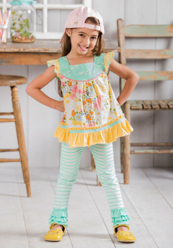 Matilda Jane Skipping Along Leggings Girls Size 6 8 The Adventure Begins NWT