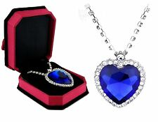 Film Jewelry Necklace Titanic Heart of the Ocean whit  Crystal  White Gold N7