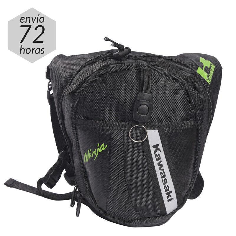 Pernera para Moto Riñonera Bolsa de pierna Kawasaki Mochila Equipaje Leg Bag