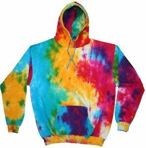TIE-DYE-HOODIE-Sweater-Hipster-Fashion-Tye-Die-T-Shirt-Festival-Grunge-Rainbow-T
