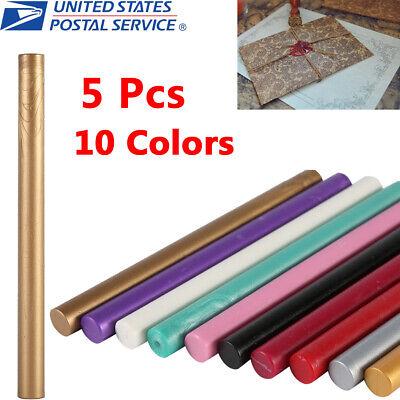 5Pcs Vintage Seal Sealing Wax Stick for Melting Gun Stamp Envelope Invitation SG