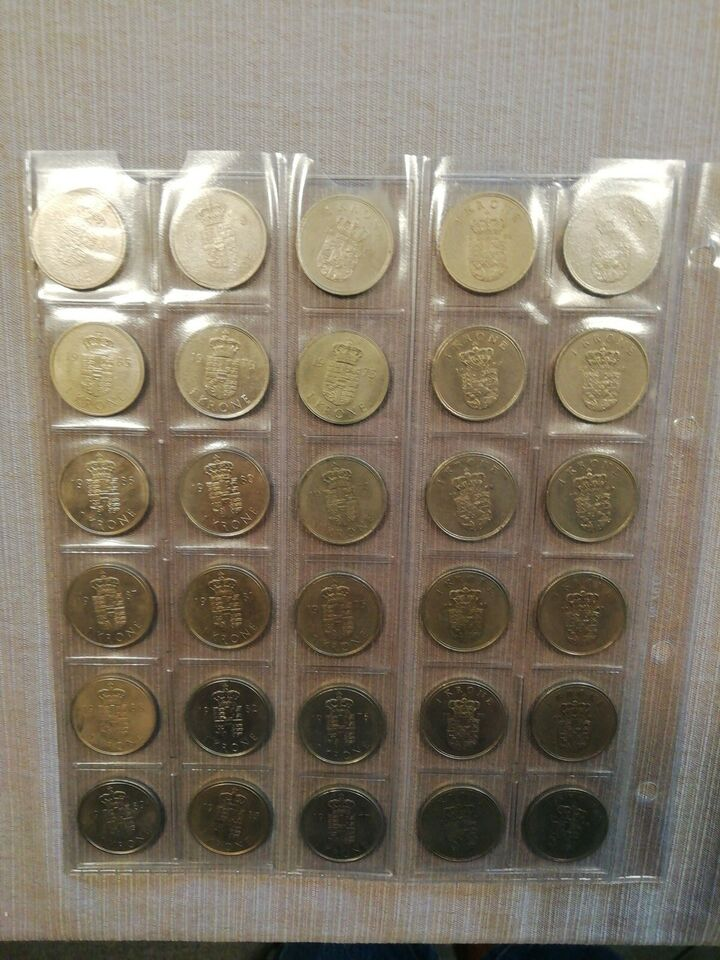 Danmark, mønter, 1 krone