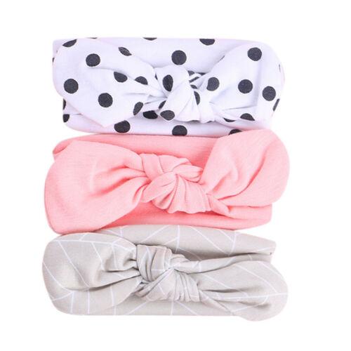 3pcs Toddler Kids Headband Ribbon Elastic Baby Headdress Hair Band Girl Bow Knot