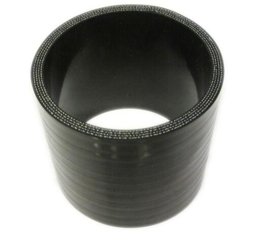 """Coupleur Tuyau Silicone Noir 76mm droite 3 /""""inch silicium menuisier"""