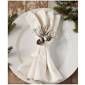 Bethany-Lowe-Pine-Cone-Bough-Christmas-Party-Dinner-Napkin-Ring-Vntg-Home-Decor