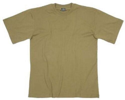 US Raid Chemise manches mi-longues Short Manche Army Tshirt Chemise Coyote Tan L