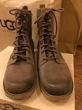 UGG Australia MONTGOMRY Men's Leather/Canvas/Lamb Fur Boot Chestnut 12US/45EU