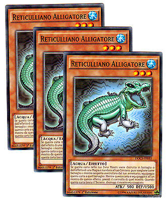 Set 3 Carte DRAGO SPADA DELL/' ALLIGATORE in Italiano LDK2-ITJ43 YUGIOH