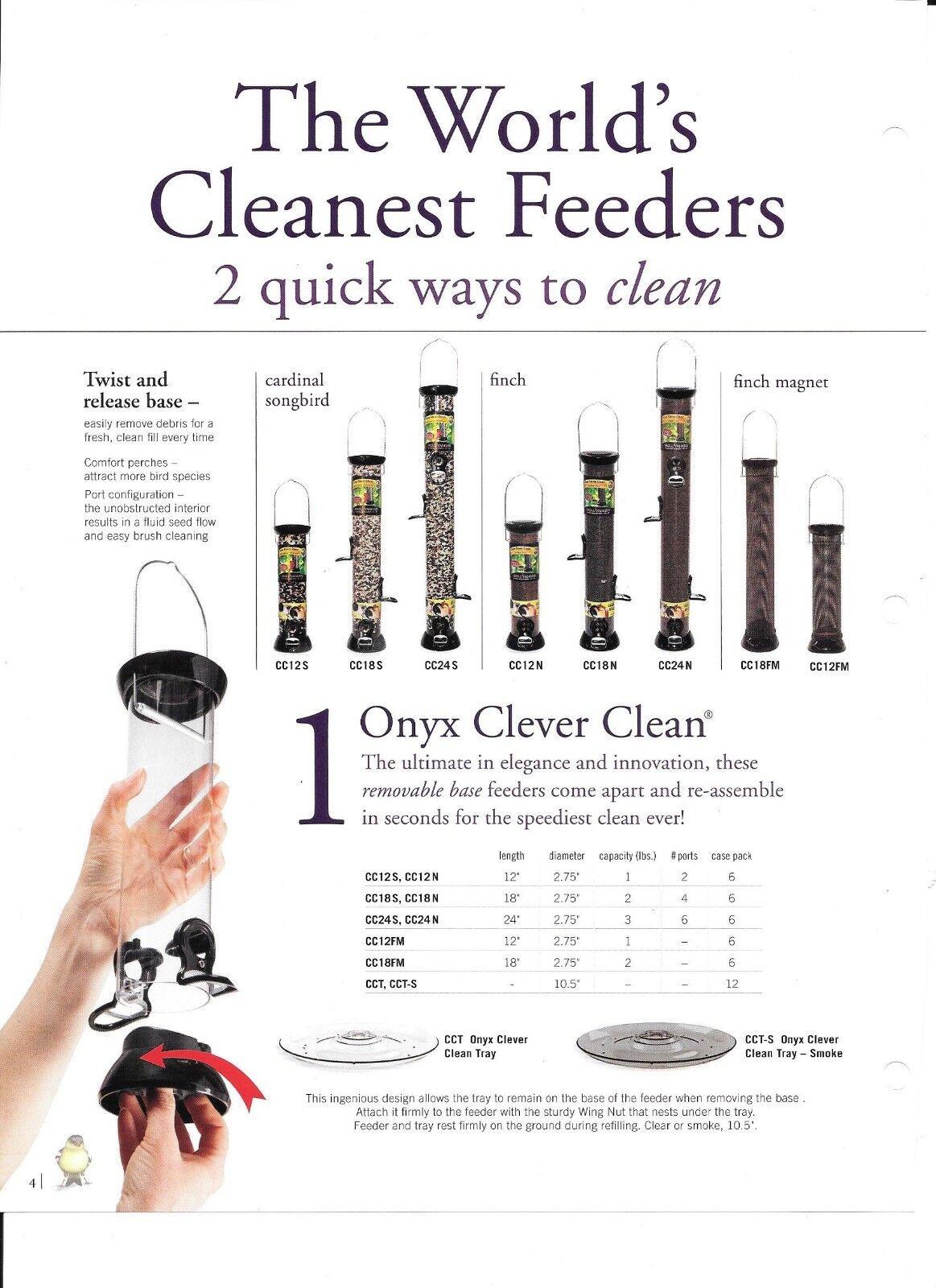 Pájaro FEEDER-Cochedenal & Aves Canoras Alimentador de semilla de girasol Mixed Onyx inteligente Limpio