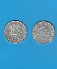 § PAYS-BAS NETHERLANDS 2,50 Gulden  1959  Silver Coin