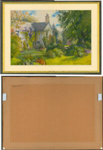 Beatrice-Emma-Parsons-1870-1955-Signed-Watercolour-Garden-in-Summer