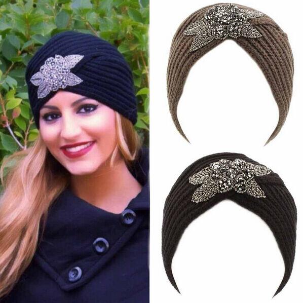 Women's Knitted Beanie Headband Crochet Headwrap Hat Cap Winter Warm Turban 2016