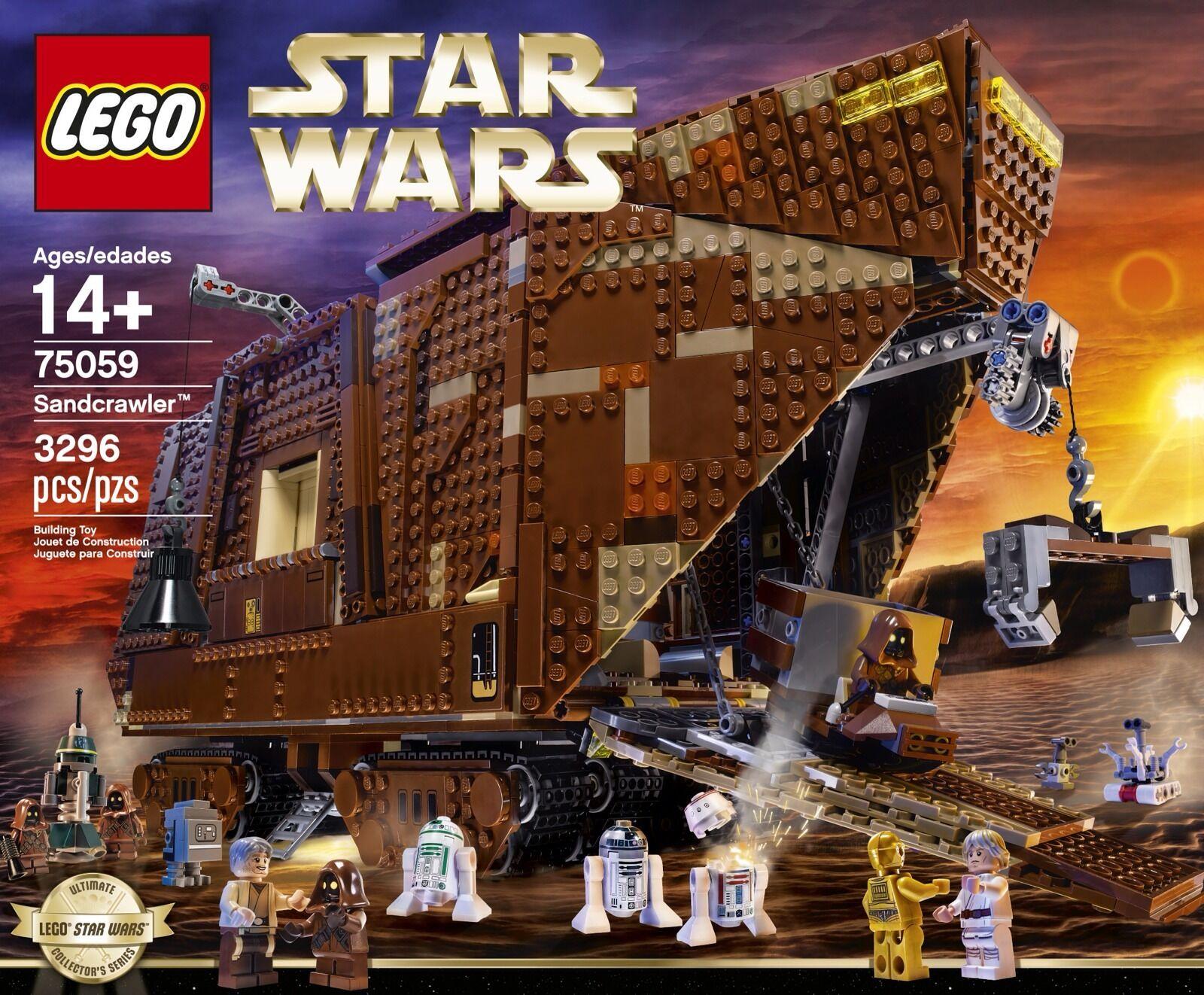 Lego Star Wars Sandcrawler 75059 New sealed A New Hope Mini Figures R2-D2