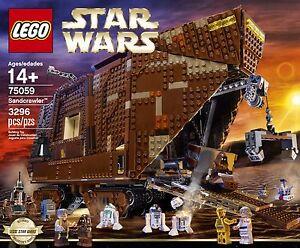 Lego Star Wars Sandcrawler 75059 Nouveau / scellé ** un nouvel espoir ** Mini figurines R2-d2