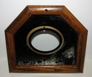 Schoolhouse Short Drop Wall Regulator Clock Bottom Door & Glass Tablet (Store#4)