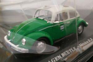 1-43-VW-VOLKSWAGEN-BEETLE-TAXI-MEXICO-D-F-1985-COCHE-DE-METAL-A-ESCALA