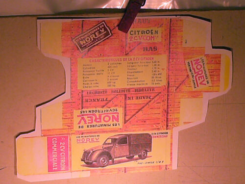REFABRICATION BOITE CITROEN 2CV CAMIONNETTE 1955//60 NOREV 1957