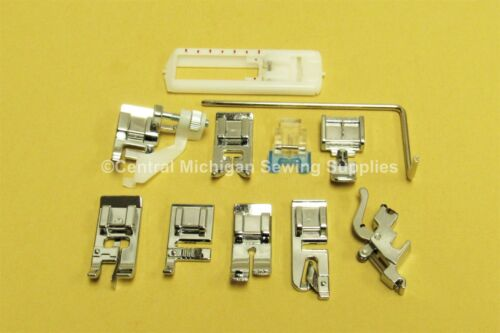 11 pcs Husqvarna Viking Sewing Machine Snap on Attachments Feet 5011LC