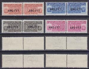 Trieste A 1953 Pacchi in concessione n.1-4 serie 4 val. MNH** gomma integra