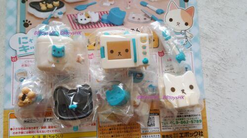 Epoch Capsule Cutie Cat Kitchen Electrical Blue Colour Version Full Set 5 pieces