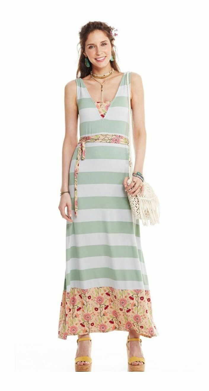 NWT In Bag Matilda Jane Woman's Größe Medium Seaside Afternoon Maxi Dress