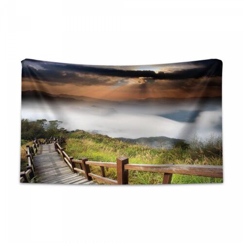 Natur Wandteppich und Tagesdecke Hazy Foggy Sky Italienisch Druck