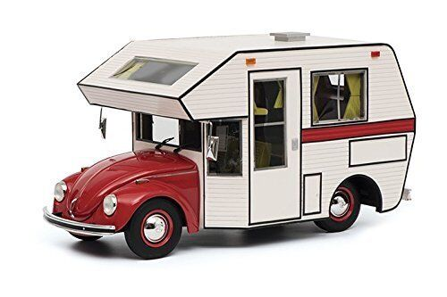 Schuco VW Beetle Motorhome red - white 1 18 450011200