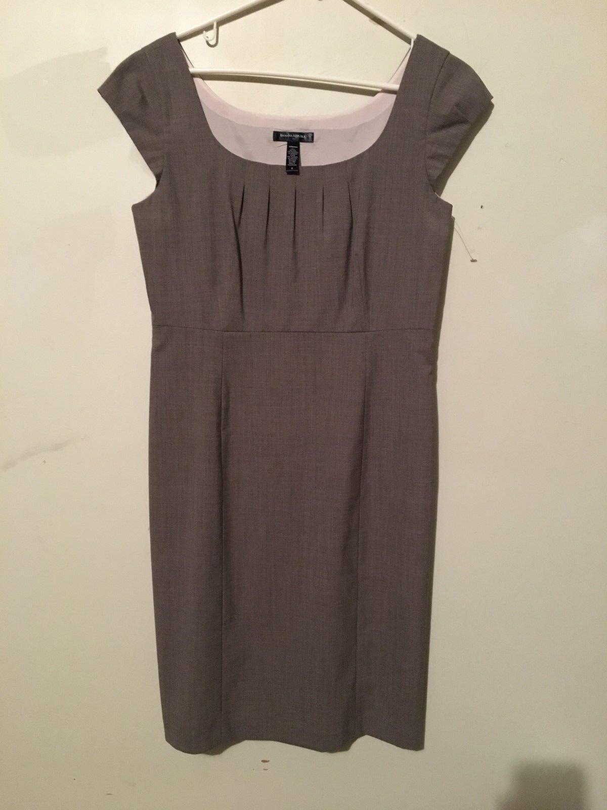 Banana Republic Light braun Cap Sleeve Boat Neck Dress damen Größe 8 Formal