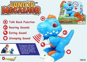 Junior Megasaur Interactive touch and Talk Dinosaur child toy Dino Pre school  </span>