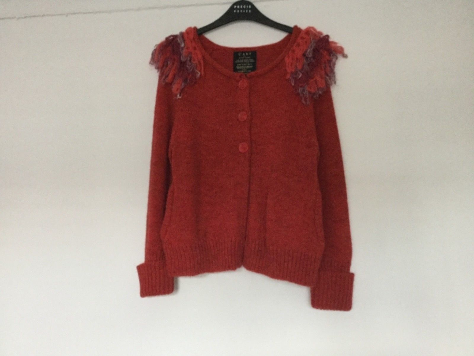 River island red cardigan size 14