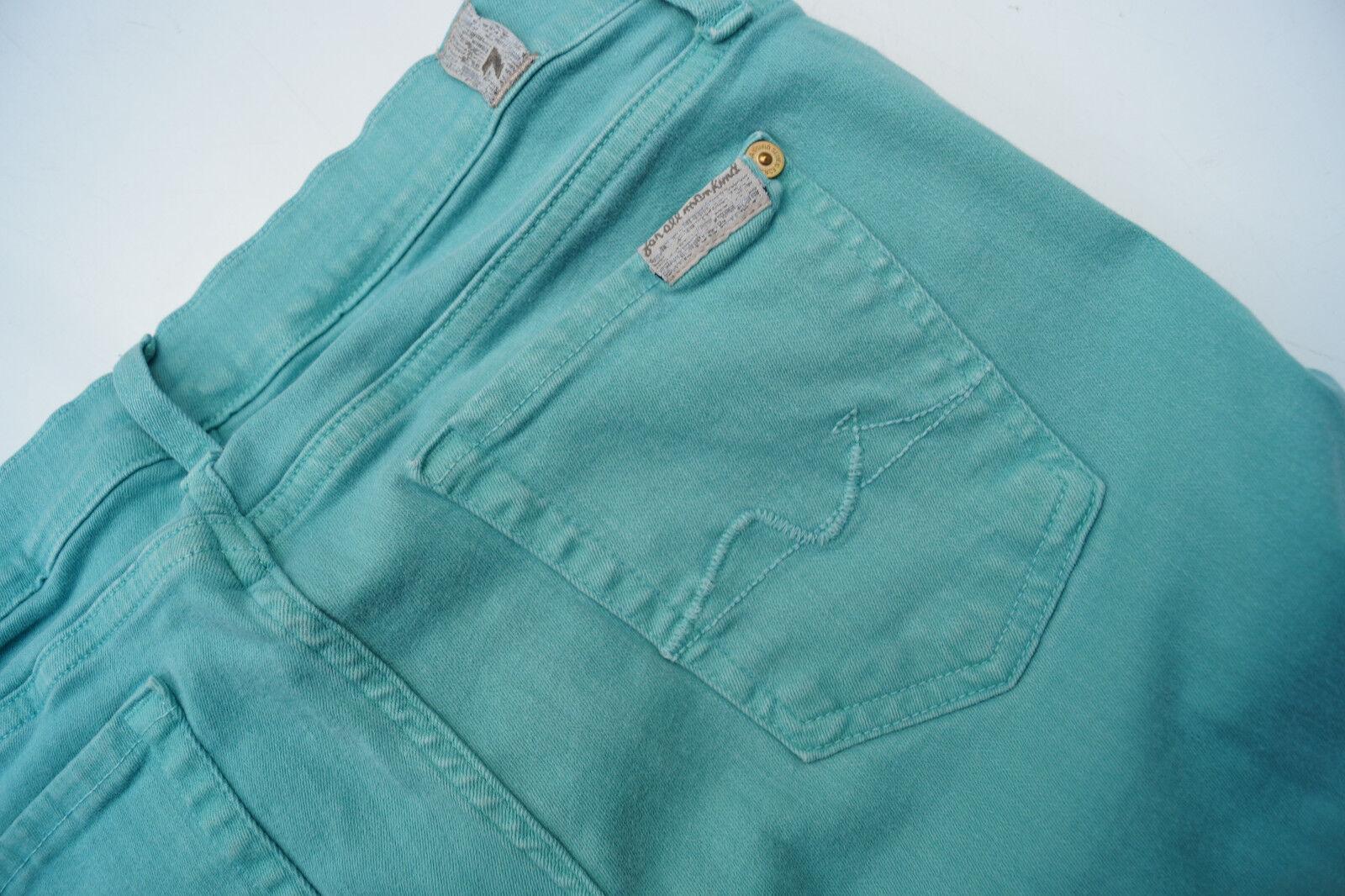 7 SEVEN FOR ALL MANKIND skinny Damen stretch Jeans Hose 27 30 W27 L30 mintgrün v