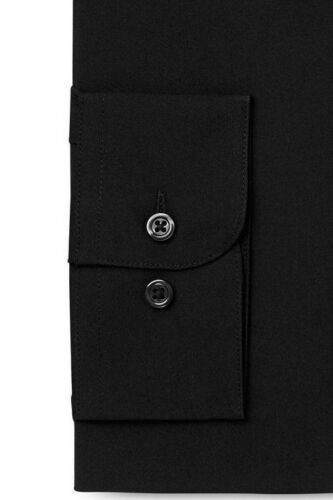 $95 ALFANI Men REGULAR-FIT STRETCH BLACK LONG-SLEEVE DRESS SHIRT 16-16.5 32//33 L
