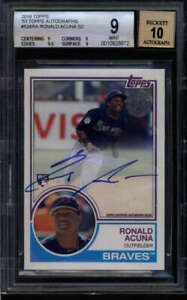 RONALD-ACUNA-2018-TOPPS-BGS-9-10-MINT-1983-STYLE-ROOKIE-AUTOGRAPH-AUTO-FC4459