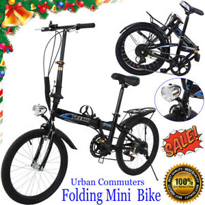 Leisure 20in 7 Speed City Folding Mini Compact Bike Bicycle Urban Commuters