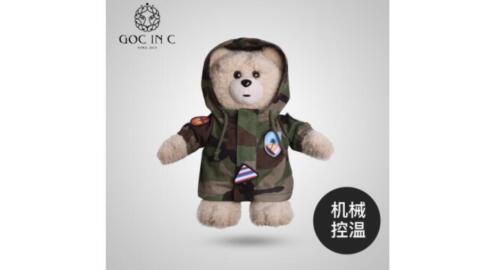 GOC IN C Head Electric Hand Warmer Camouflage Bear Hot Water Bag Plush