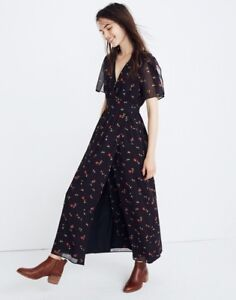 9cb146426bb Image is loading Madewell-NWT-Tulip-Sleeve-Maxi-Dress-in-Sweet-