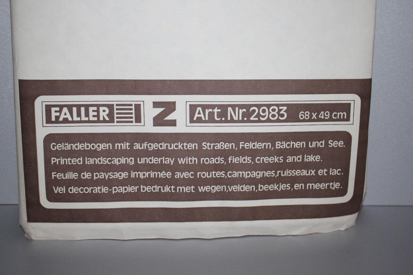 SCENARIO STAMPATO FALLER 2983 68 X 49cm gelandebogen mit aufgedruckten strassen