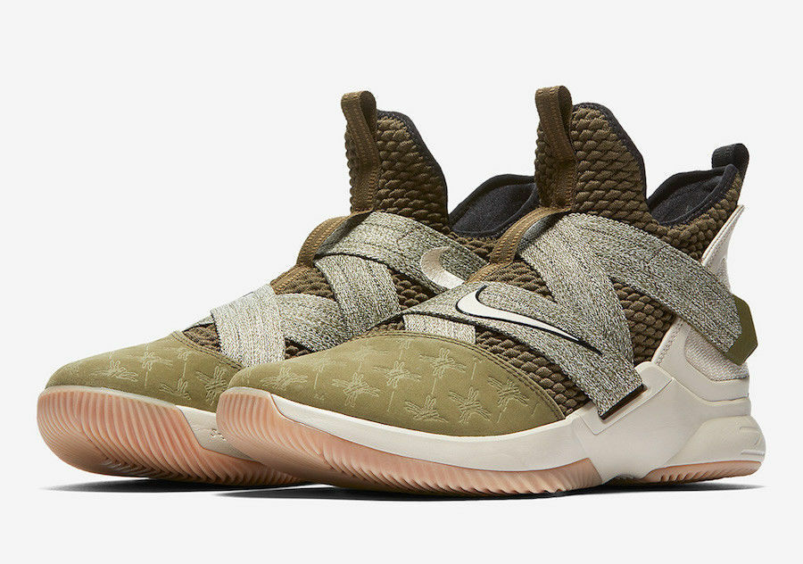 589e0632296c5 Men's Lebron Soldier XII James Olive Green 13 AO2609-300 Land and Sea Sizes  Nike neqiij107-Athletic Shoes