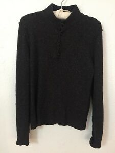 Rag Bone Melange Charcoal Sweater Mens Small Ebay