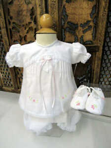 Will'beth Delicate Baby Infant Newborn Girl Diaper Set Shoes NWT Reborn Dolls