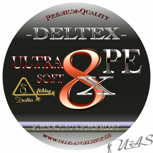 DELTEX Ultra Soft Grün 0,12mm 7.40kg 300M 8 fach Geflochtene Angelschnur Kva