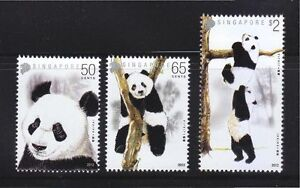 SINGAPORE-2012-GIANT-PANDAS-COMP-SET-OF-3-STAMPS-IN-MINT-MNH-UNUSED-CONDITION