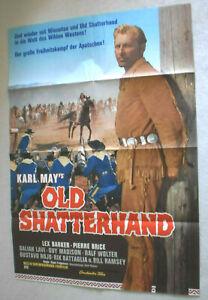 A1 Filmplakat , OLD SHATTWEHAND ,Pierre Brice, Lex Barker,KARL MAY