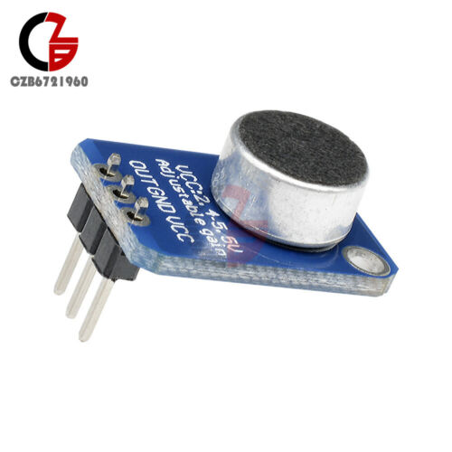 GY-MAX4466 Electret Microphone Amplifier Adjustable Gain Blue//Purple for Arduino