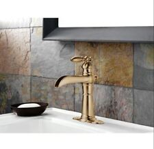 Item 1 Victorian Style Open Channel Spout Bathroom Faucet High Arc Bronze Gold