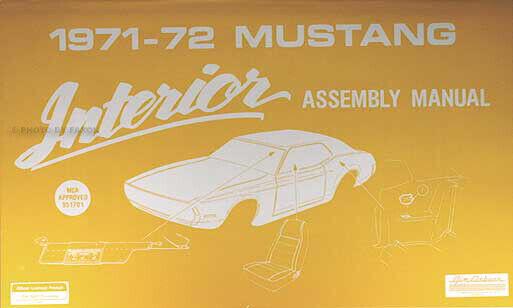1971 1972 Ford Mustang Interno Assemblaggio Manuale Grande Mach Boss Sedili Etc