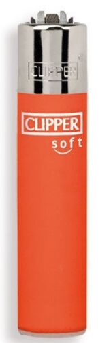 Clipper-super-lighter-gas-refillable-Micro-soft-touch-orange